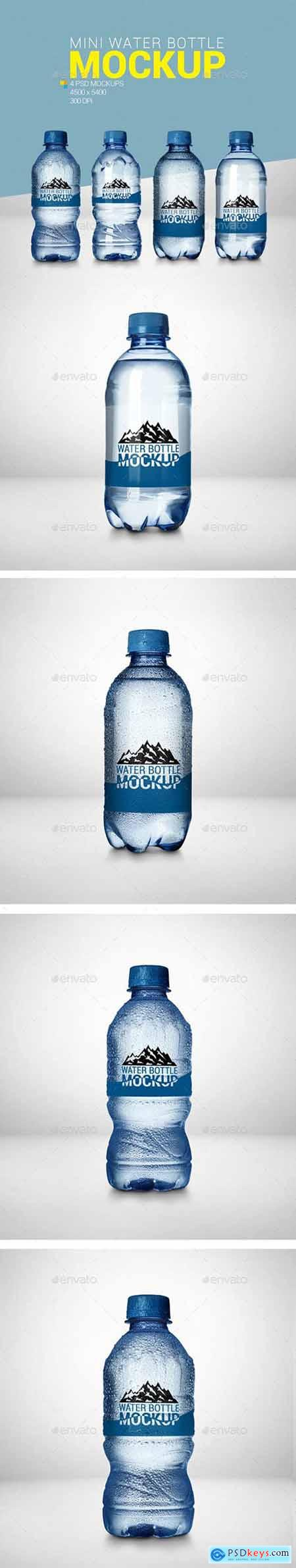 Graphicriver 4 Mini Water Bottle Mockup