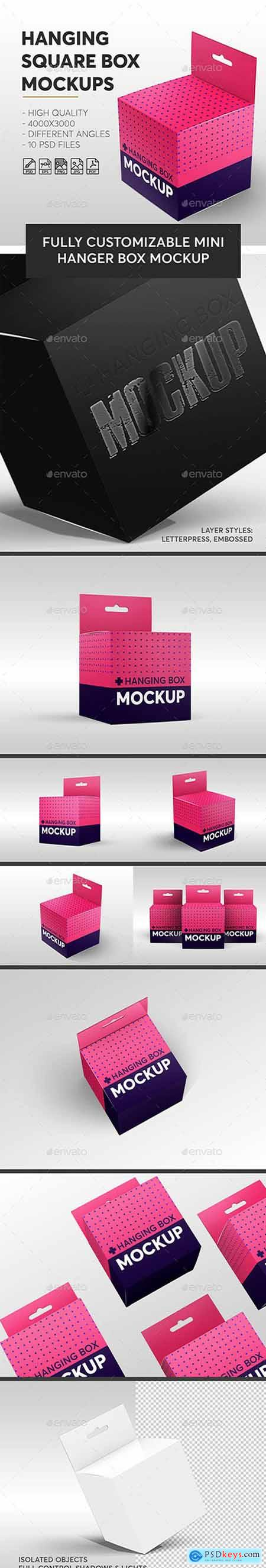 Graphicriver Hanging Square Box Mockups V.1 Miscellaneous
