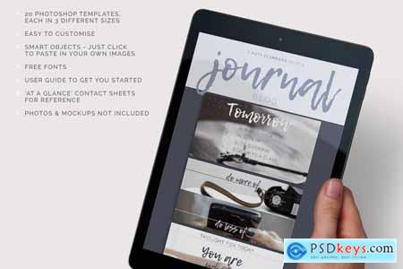 Journal Social Media template pack