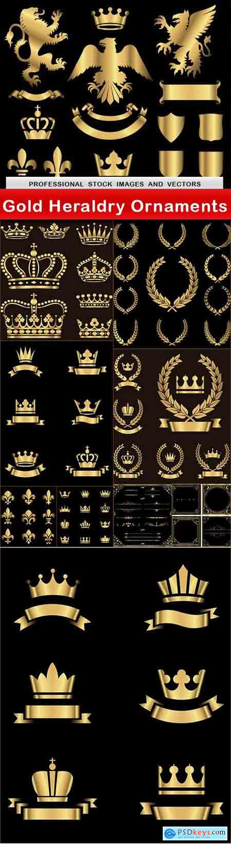 Gold Heraldry Ornaments - 10 EPS