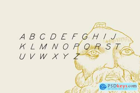 Kyril — A display hand-drawn font