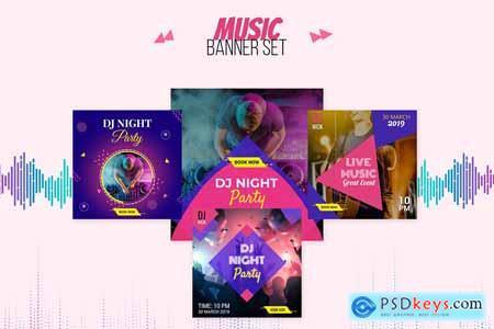 10 Music Banner Set