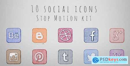 Videohive Social Icons Stop Motion Kit Free