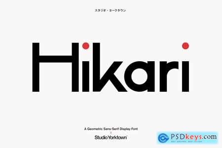 Hikari - A Geometric Display Font