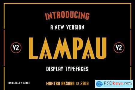 LAMPAU - Display Font