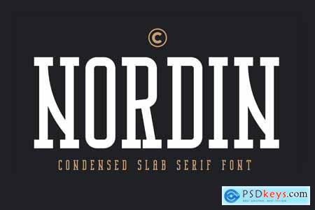 Nordin Slab - Condensed Slab Serif