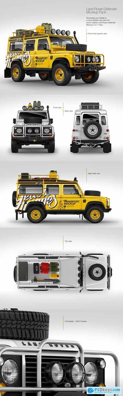 Land Rover Defender Mockup Pack