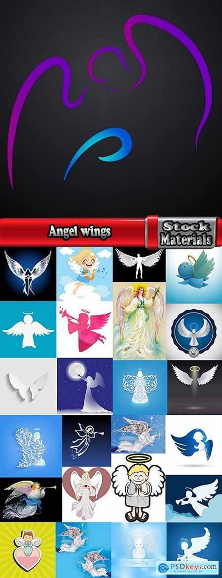 Angel wings guardian of the holy spirit 25 EPS