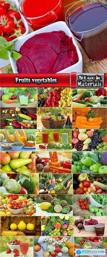 Fruits vegetables set group beet sprouts pumpkin juice tomato 25 HQ Jpeg