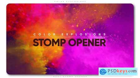 Videohive Color Explosions Stomp Opener Free