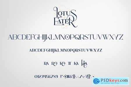 Lotus Eater - Vintage Font + Extras