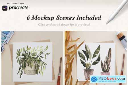 6 Procreate Artwork Mockups