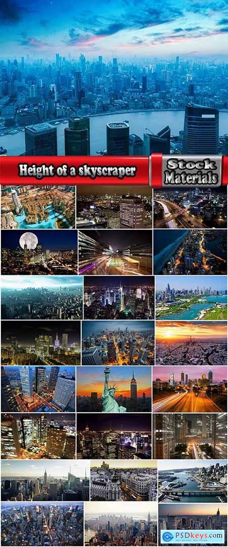 Height of a skyscraper night city business center metropolis 25 HQ Jpeg