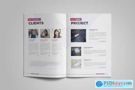 Abstract 20 Pages Business Brochure
