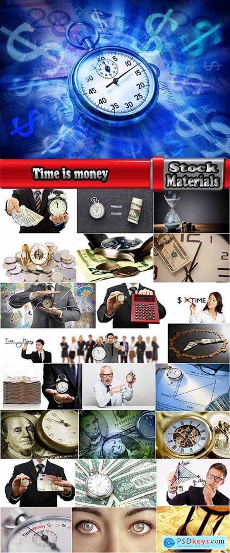 Time is money clock business profits 25 HQ Jpeg