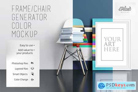 Frame chair Generator Color - Mockup