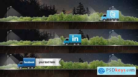 Videohive Social Truck Lower Third Free
