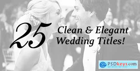 Videohive 25 Wedding Titles - Clean and Elegant Free