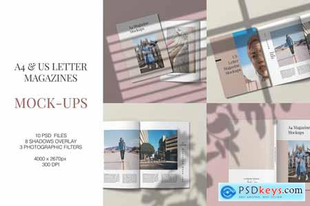 A4 and US Letter Magazine Mockups