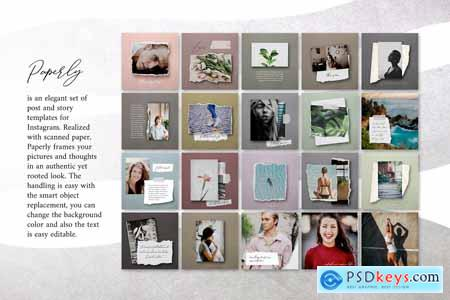 Paperly 1 – Instagram Post Templates