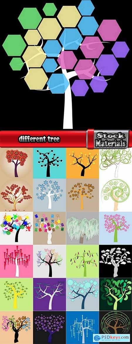 different vector image calligraphic tree a background design element 25 Eps
