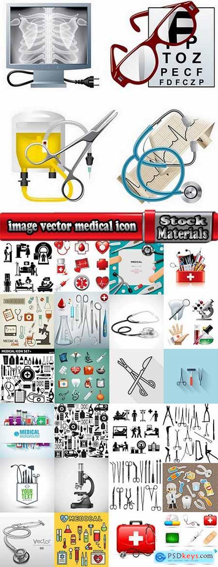 image vector medical icon tool infographics 25 EPS