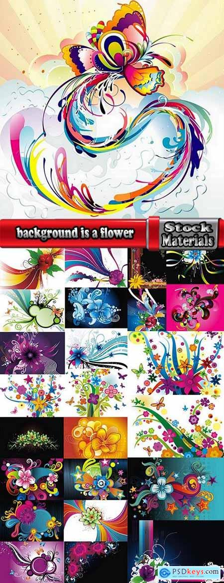background is a flower vector image 25 EPS