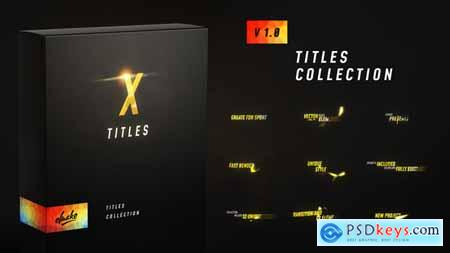 Videohive X Titles Free