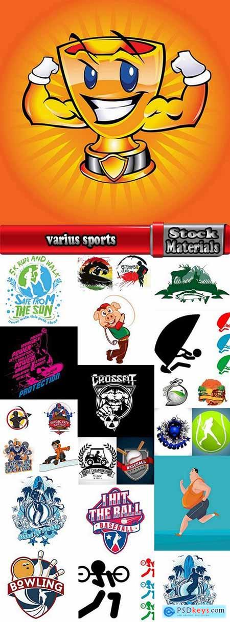 varius sports extreme sports icon flyer banner poster 2-25 EPS