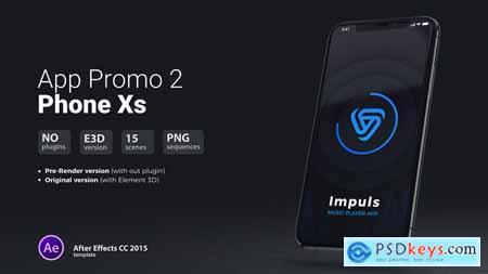 Videohive App Promo 2 Phone Xs Free