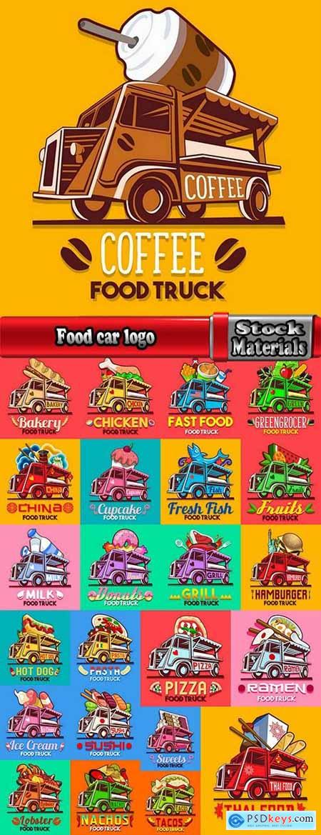 Food car logo signboard cafe restaurant menu 24 EPS