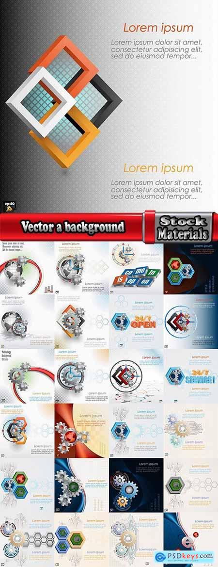 Vector a background picture industrial service template website sample cover 25 Eps