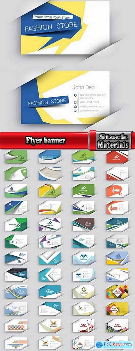 Flyer banner advertising poster signboard invitation card business card business card 25 EPS