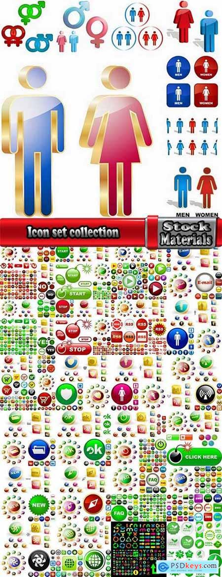 Icon set collection design element logo 25 EPS