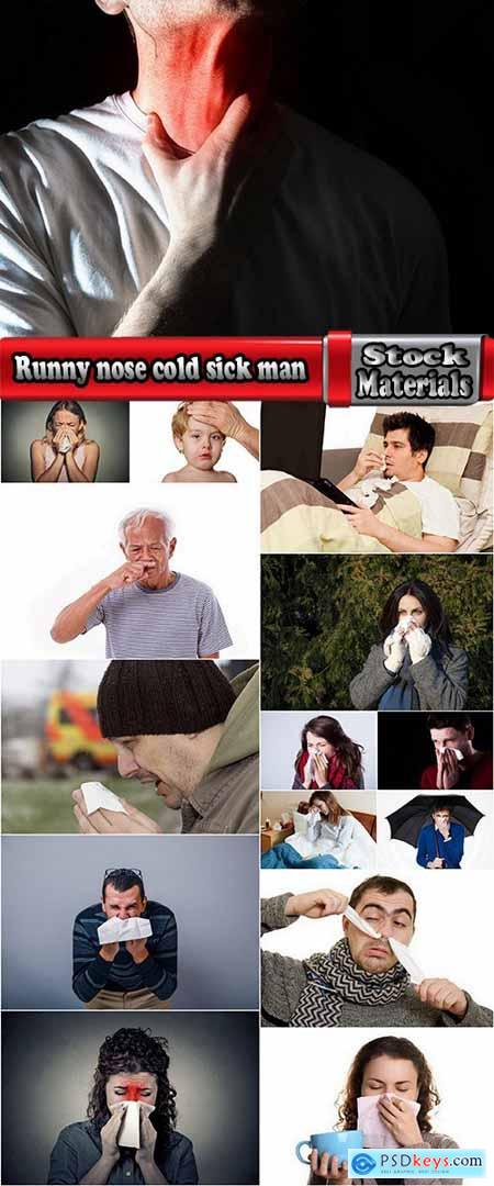 Runny nose cold sick man 15 HQ Jpeg