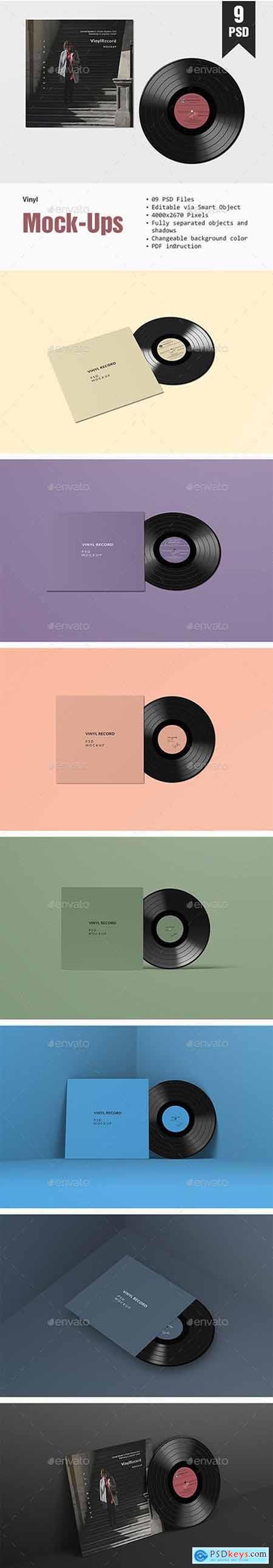 Graphicriver Vinyl PSD Mockup
