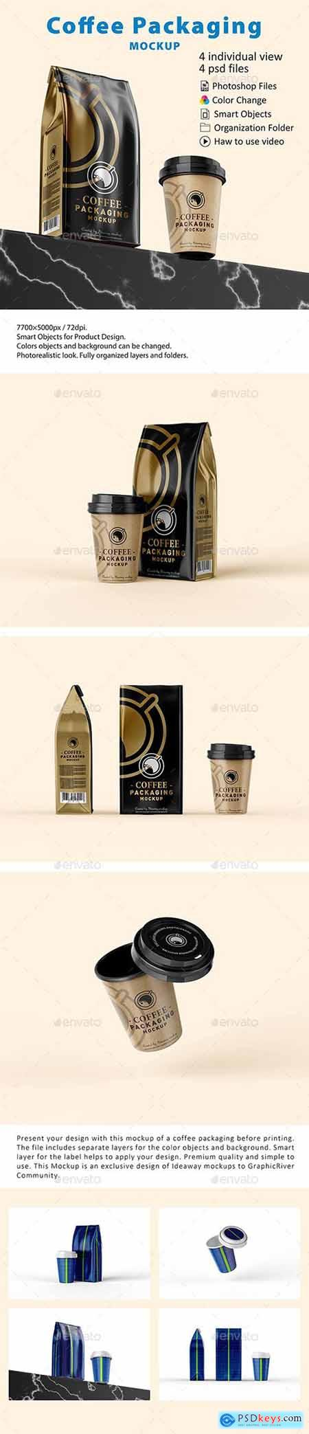 Graphicriver Coffee Packaging Mockup