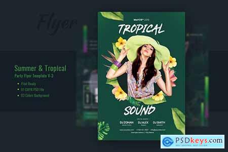 Summer & Tropical Party Flyer Template V-3