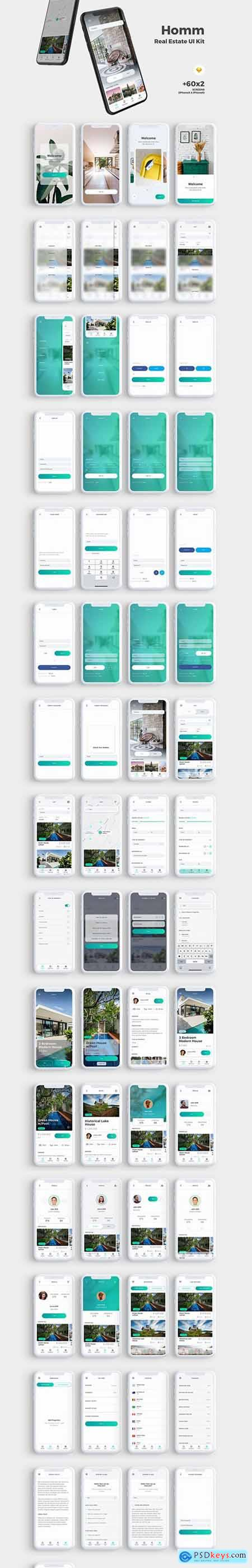 Homm Real Estate UI Kit