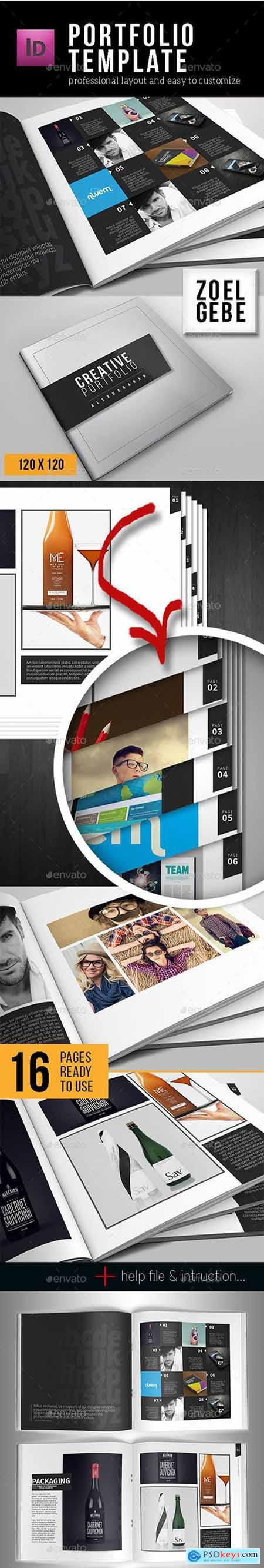 Graphicriver Portfolio Template - Square