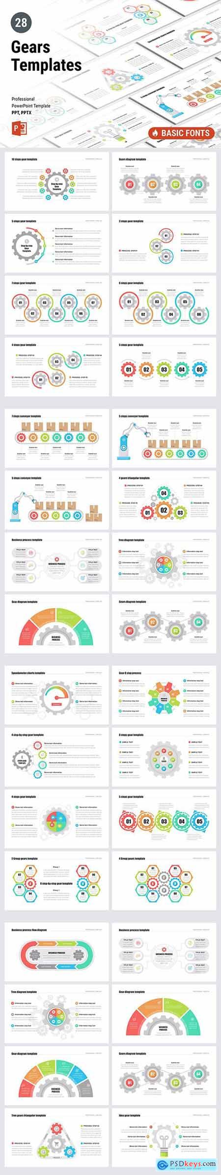 Gears PowerPoint, Keynote and Google Sliders Templates
