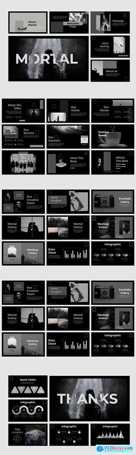 Mortal - Powerpoint Google Slides and Keynote Templates
