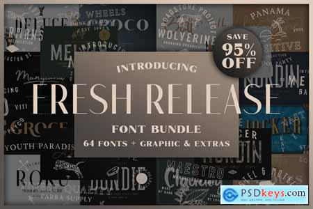 FRESH RELEASE Font Bundle