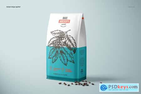 CreativeMarket Paper Coffee Bag Mockup Set