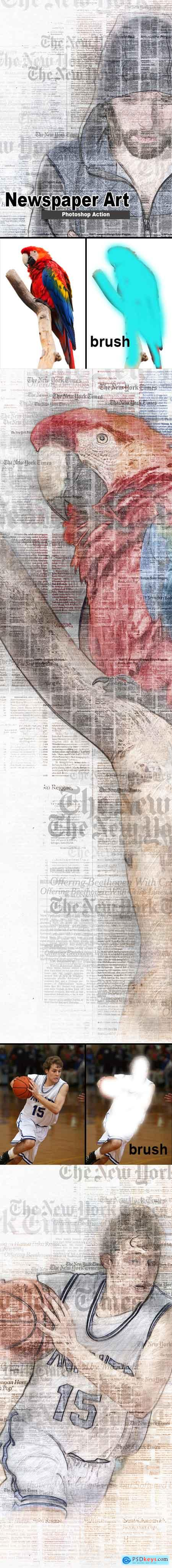 Graphicriver Amazing Newspaper Art Photoshop Action