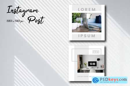 Creativemarket Desk Space Social Media Template