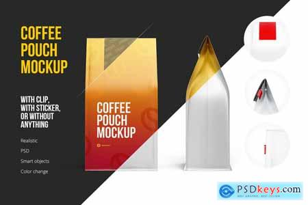 Creativemarket Coffee Pouch Mockup 3 in 1 Pack