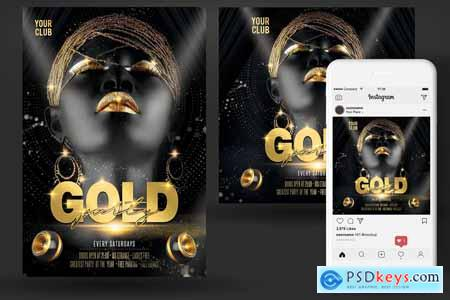 Creativemarket Gold Flyer