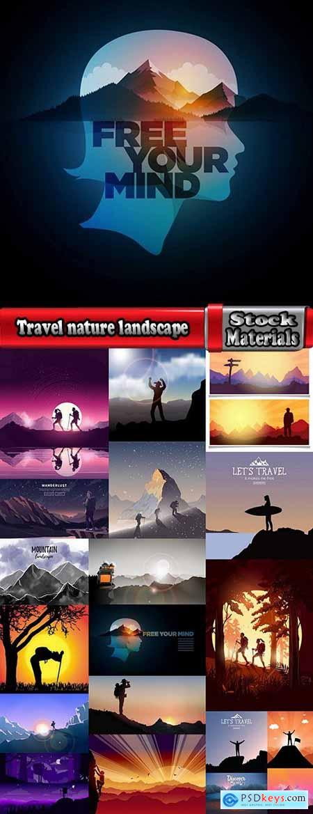 Travel nature landscape picture mountain 20 EPS