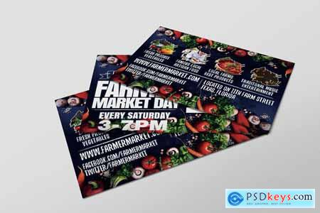 Creativemarket Farmer Market Day PostCard